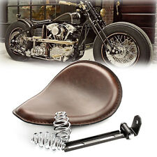 "Brown Motorcycle Solo Seat 3"" Spring Bracket For Harley Chopper Bobber Honda New"