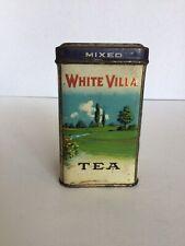 Vintage White Villa Tea Tin 1/4 lb. White Villa Grocers, Cincinnati & Dayton, OH