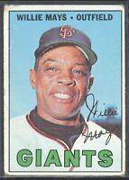 Willie Mays 1967 Topps vintage baseball card #200 San Francisco Giants HoF