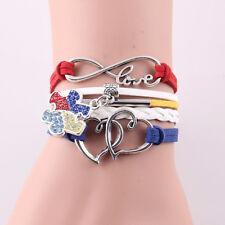 Charm Jewelry Infinity For Women Men Rhinestone Bangles Puzzle Piece Bracelet