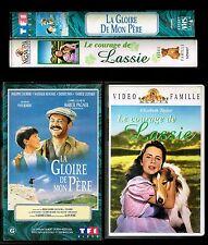 LOT DE 2 K7 VHS.  LA GLOIRE DE MON PERE ET LE COURAGE DE LASSIE.