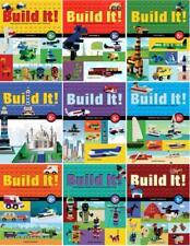 BUILD IT! Lego Block Creation Series by Jennifer Kemmeter PAPERBACK Book Set 1-9