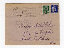 France 2 timbres sur lettre tampon Vienne 1939   /L866