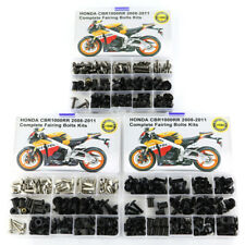 Motorcycle Fairing Bolts Kit Bodywork Screws For Honda CBR1000RR 2008-2011 Black