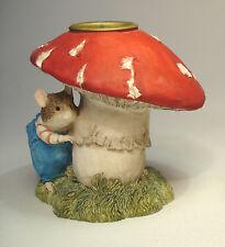 brambly hedge border fine arts Wilfred mushroom candlestick