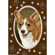 Paws Garden Flag - Red and White Cardigan Welsh Corgi 172431
