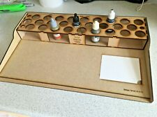 HobbyBench and Paint Storage Rack 27 pots Vallejo Warpaint RIGHT HAND