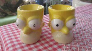 Homer Simpson Egg Cups x2 Matt Groening 2006