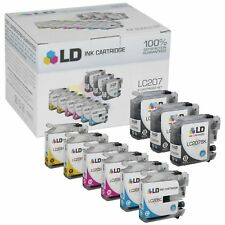LD 9 Pack LC207 and LC205 Comp Super HY Black & Color Ink Cartridge Set Brother
