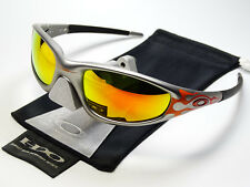 Oakley Straight Jacket Orange Flames Fire Occhiali da sole minuto Splice RACING Eye