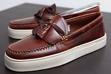 GH BASS WEEJUNS LEATHER SNEAKERS CUP LARSON LOAFERS BROWN MENS