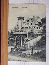 Fotokarte - Hohenberg / NÖ - Person vor Hinterburg - Bezirk Lilienfeld  m3
