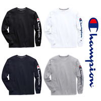 2019 Hot Authentic Champion Men Jersey Sleeve Script Logo Long Sleeves T-Shirt