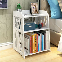 50x30x40cm Carved Bedroom Nightstand Bedside Table Rack Storage Organizer Shelf