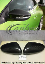 VW Scirocco Carbon Fibre Wing Mirror/Door Mirror Covers Full Replacement Type