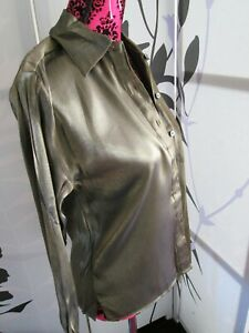 Sara Neal brown blouse and skirt UK 12 work evening wear