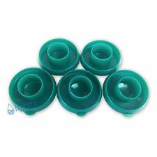 (Lot of 5) Green Water Bottle Snap On Caps 55mm Lids Dew Caps Tops Jug Container