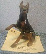 Doberman Pinscher Red Hagen Renaker Ceramic Dog Figurine Sitting Raised Paw