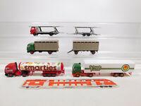 CN215-0,5# 4x Wiking H0/1:87 LKW Mercedes/MB: 565 + Smarties + Schwab etc, TOP
