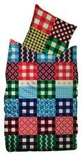Suenos Linon Bettwäsche Set 135x200cm 100% Baumwolle Patchwork/Peablock