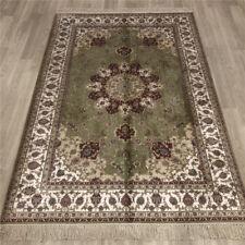 YILONG 4'x6' Green Silk Hand Woven Carpets Bedroom Decoration Handmade Rugs 024B