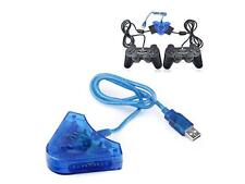 Dual Playstation Game Controller to PC Adapter Converter USB Splitter Cable