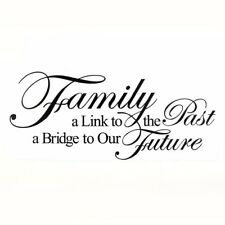 FAMILY Love Quotes DIY Black Letters Wall Stickers Removable Art Vinyl Decal FPF