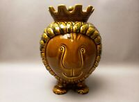 Anthropologie LION KING with Crown Ceramic Cookie / Biscuit Jar Made in Italy