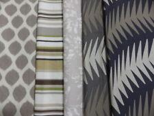 Designer Fabric 6 Remnant Bundle Brown Beige Green Black Romo Harlequin