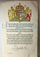 WW2 Queen mother Evacuee housing Certificate To A Mrs Storey
