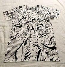 Dc Comics Villains All Over L Large T-Shirt Comic Logo Tee