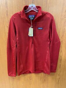 Patagonia Men's R1 Fleece Quarter Zip Pullover Sweater (Medium, Red) 40110