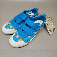 Toms  Blue Canvas Sesame Street Cookie Monster  Sneakers Shoes youth Sz3.5