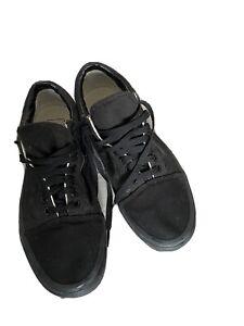 mens black vans size 9