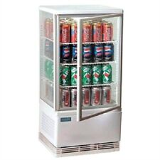 More details for polar countertop chilled display cabinet white 68 ltr - g619 commercial fridge