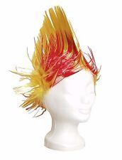 Fußball Fan Perücke Spanien Rot Gelb Fanperücke Irokese Karneval Fasching Haare