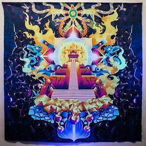 Psychedelic Fluorescent Backdrop Meditation Sacred Acid Glow UV DMT Mushroom