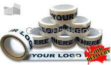 180 rotoli di BESPOKE personalizzato stampato personalizzato in vinile Nastro imballaggio con logo