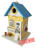 CARTMAN Beautiful Colored Country Cottages Bird House Wooden Birdhouse Farmhouse