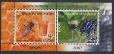 EUROPA CEPT 2005 GASTRONOMIE - MONTENEGRO BLOCK 1 POSTFRISCH ** - MICHEL: 35,00