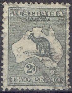 Australia.  1913 2d grey Kangaroo.  Used.  Scott #3.  Cat $10.00