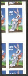 U.S. #3137 Gutter Pair (x6) - 32c Bugs Bunny ($180)