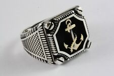 Capitán anclajes de marine anillo señores anillo sello anillo plata anillo 925 plata/476