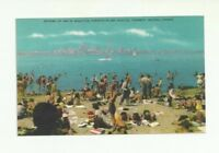 BATHING AT ONE OF BEAUTIFUL TORONTO ISLAND BEACHES, TORONTO, ONTARIO POSTCARD