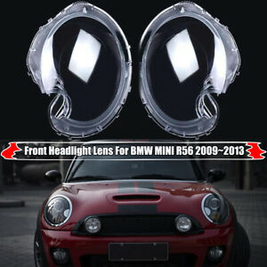 Headlight Transparents Lens Cover PC Lampshade For BMW Mini Cooper R56 Hatchback