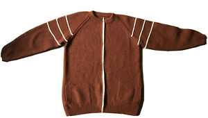 Vintage Brown Cardigan Zip Front