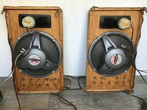Pair of electro voice Wolverine LS-12 and Jensen rp-107 horn tweeters with cross