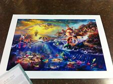"Thomas Kinkade ""The Little Mermaid"" Signed & Numbered Disney Lithograph 24 x 36"