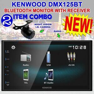 "KENWOOD DMX125BT DOUBLE DIN 6.8"" TOUCHSCREEN CAR STEREO DIGITAL MEDIEA RECEIVER"