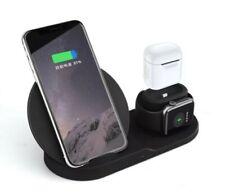 3 en 1 Cargador Inalámbrico Estación Base de carga rápida para iPhone 8 X Xr Apple Reloj
